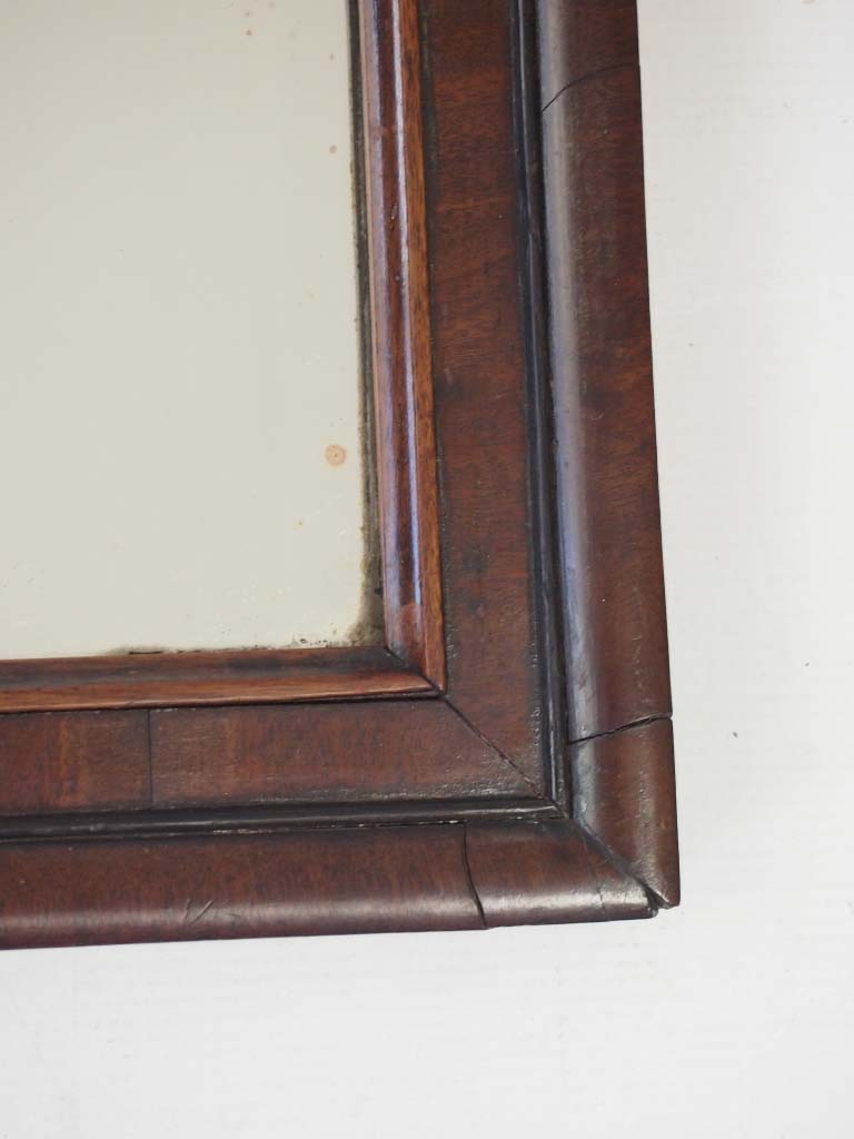 Small Antique Georgian Mahogany Fretwork Mirror
