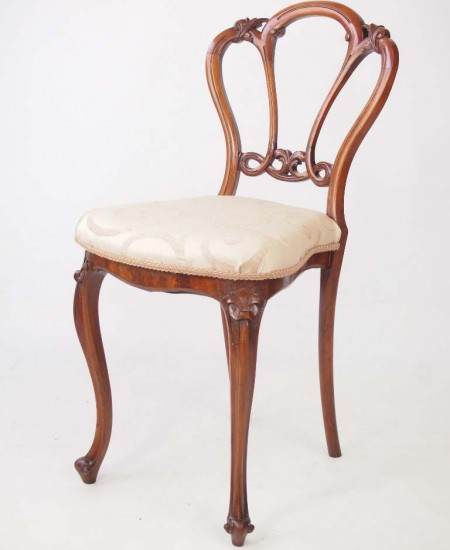 Small Antique Balloon Back Chair