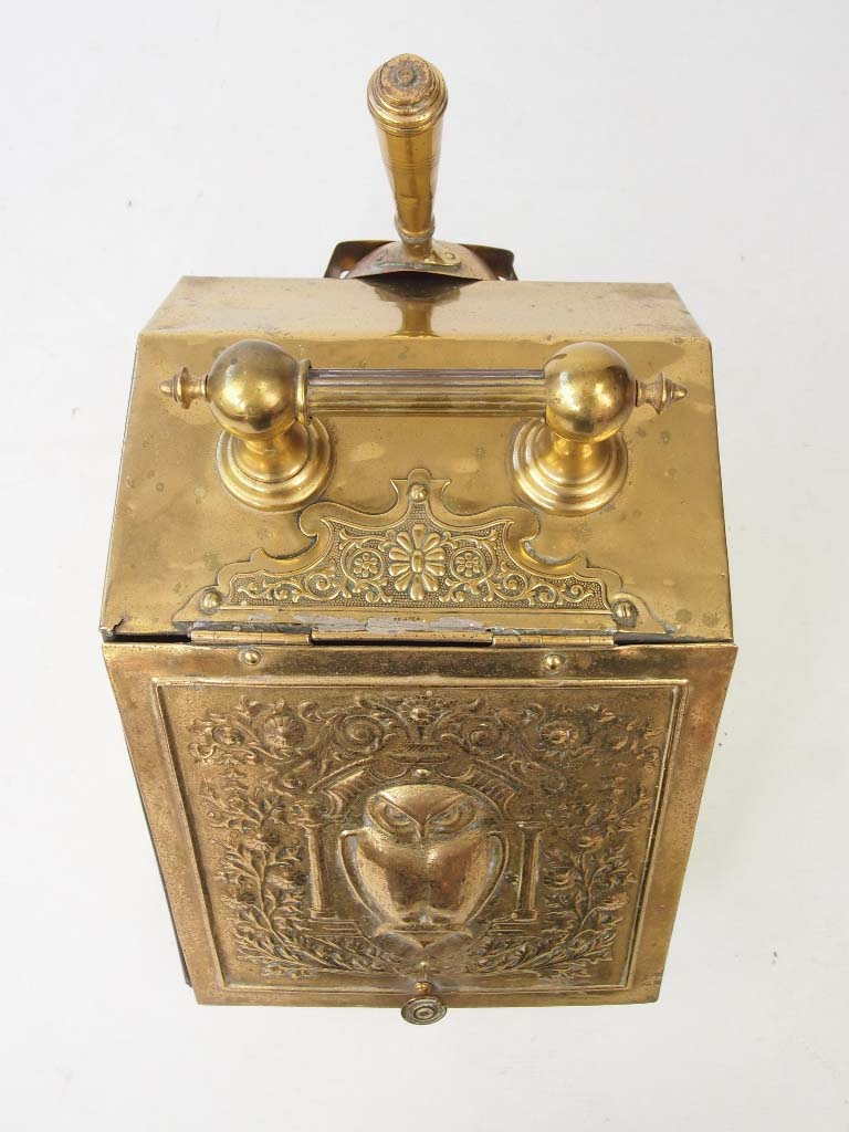 Antique Arts Amp Crafts Brass Coal Scuttle Log Bin
