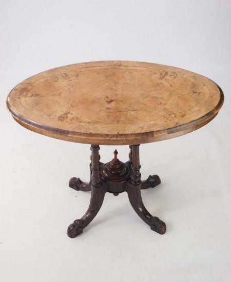 Victorian Walnut Window Table