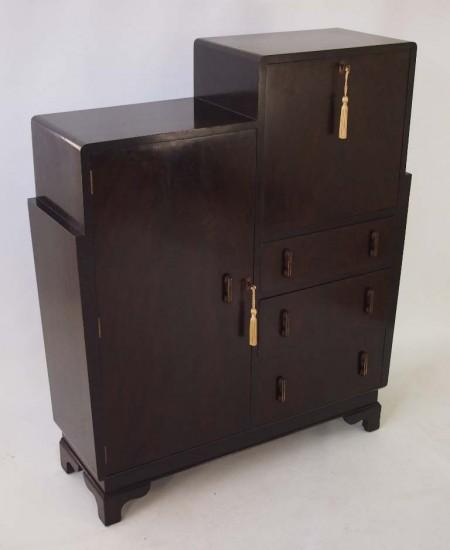 Art Deco Bureau Cabinet