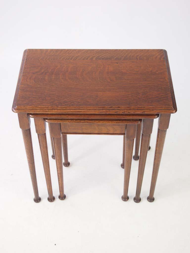 vintage oak nest of tables. Black Bedroom Furniture Sets. Home Design Ideas