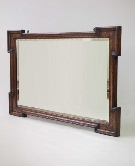 Large Vintage Oak Mirror