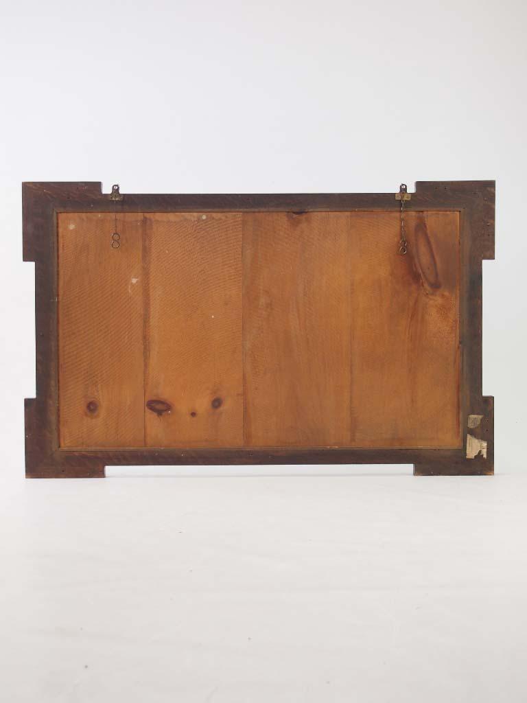 Large Vintage Oak Mirror Overmantle