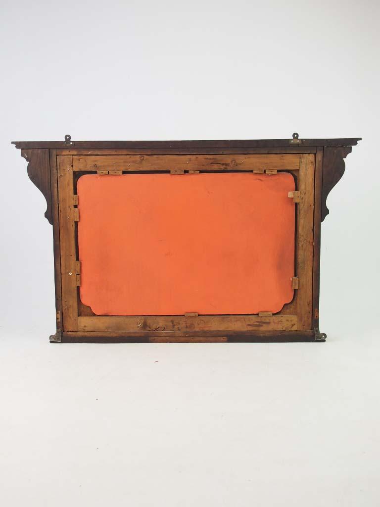Antique Arts Amp Crafts Oak Overmantle Mirror