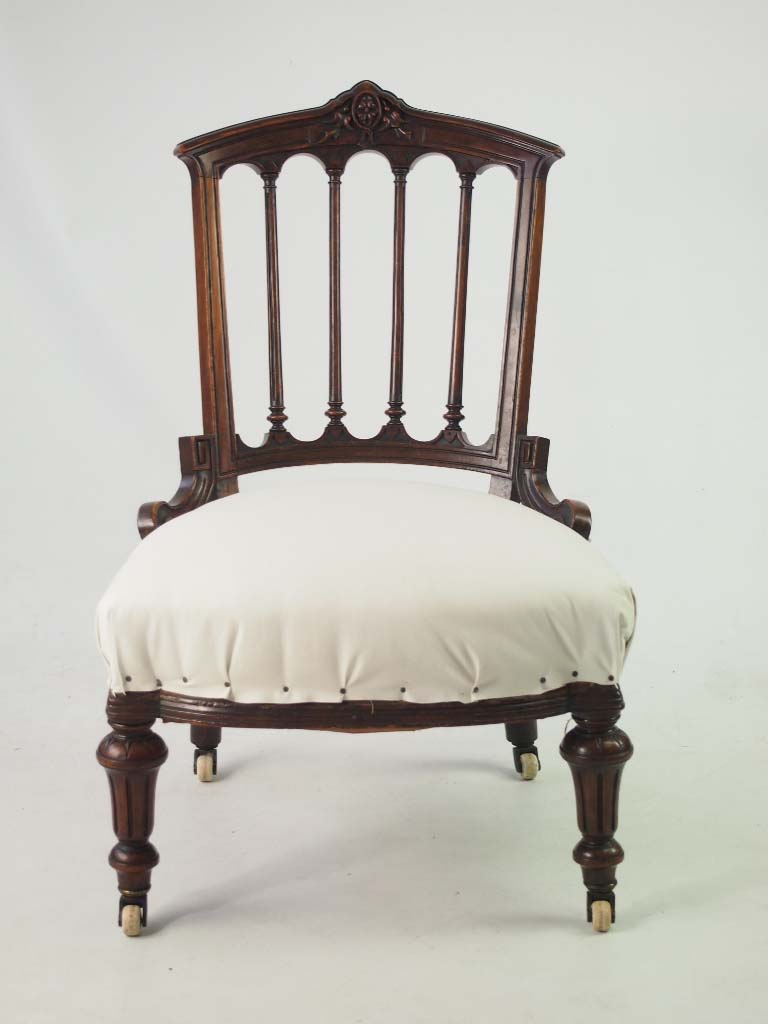 Small Antique Victorian Chair Dressing Table Chair