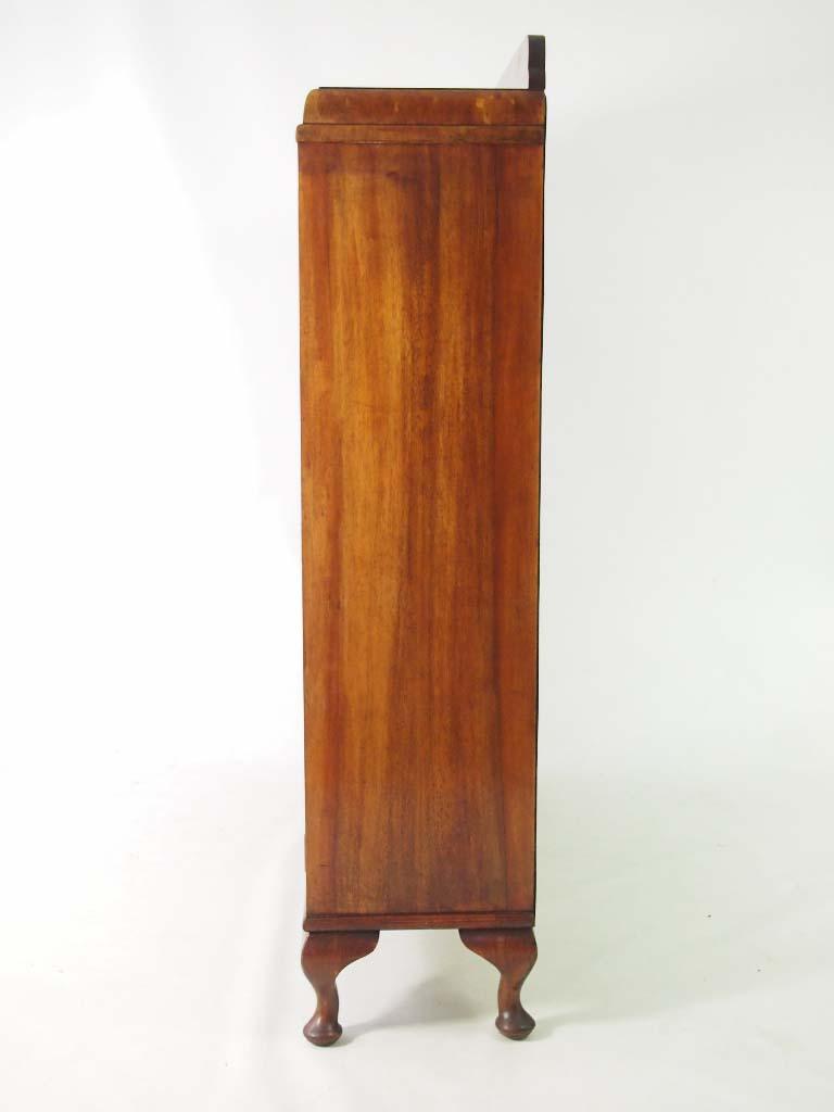 Vintage Art Deco Walnut Bookcase
