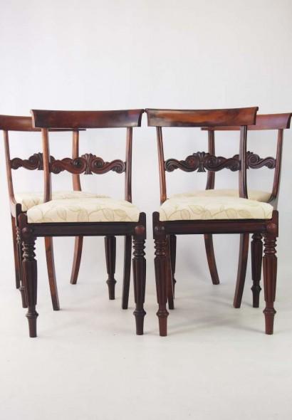 Set 4 Antique William IV Rosewood Chairs