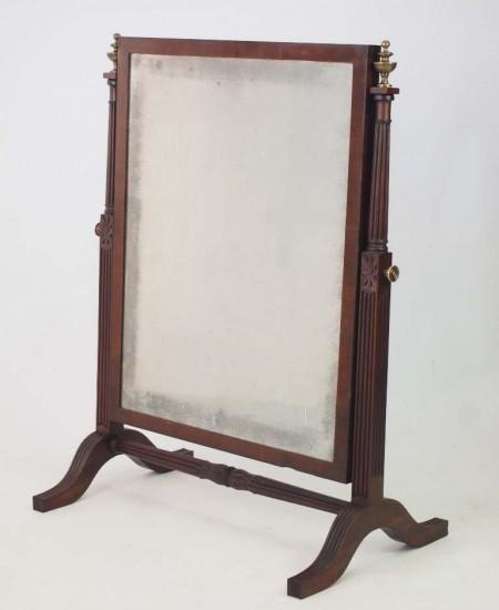 Large Antique Regency Swing Mirror