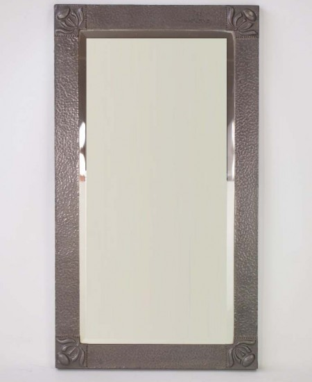 Arts & Crafts Pewter Mirror