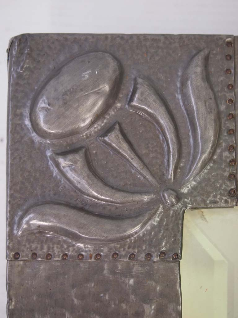 Antique Arts Amp Crafts Pewter Mirror