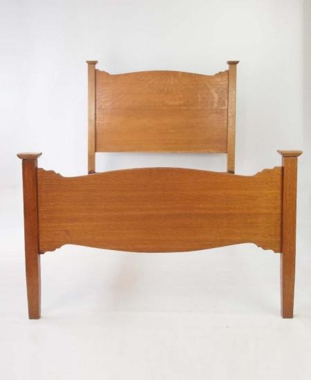 Heals Arts Crafts Oak Single Bed