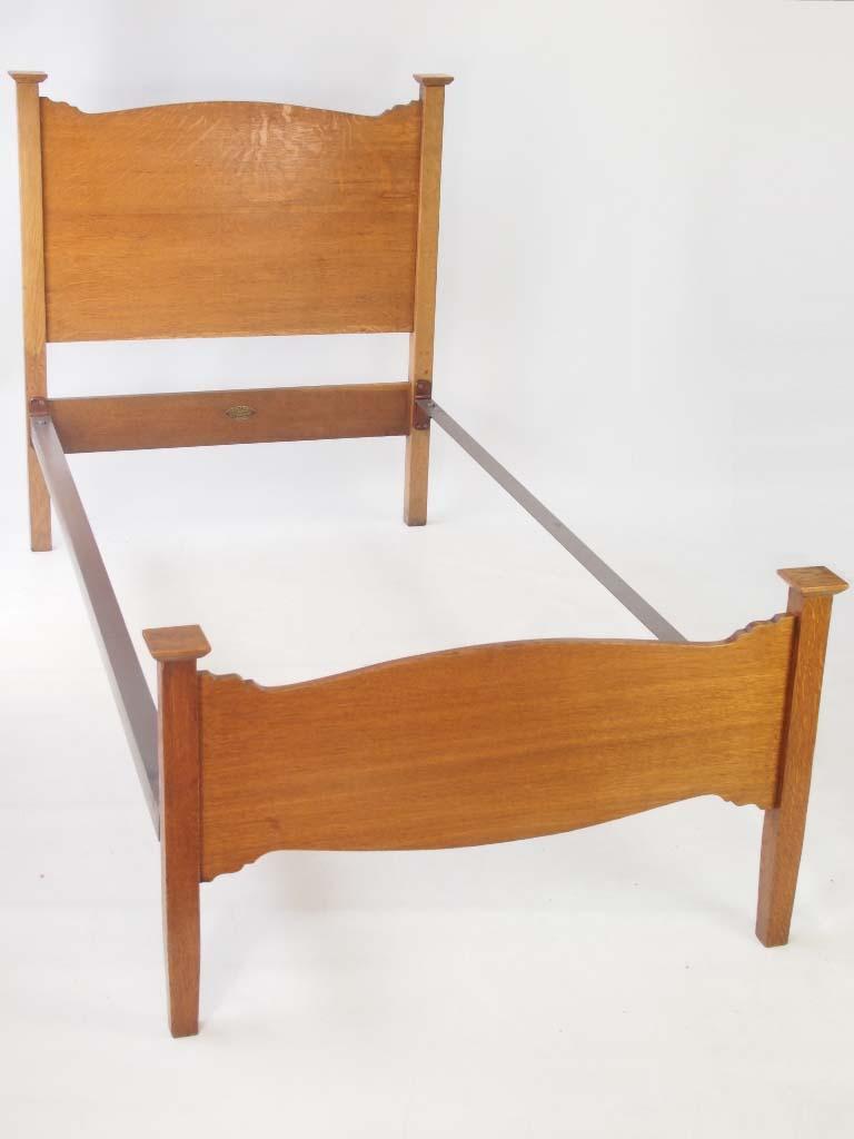 Antique Heals Arts & Crafts Oak Single Bed