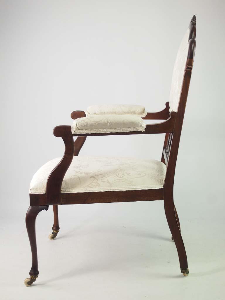 Antique edwardian mahogany armchair bedroom chair