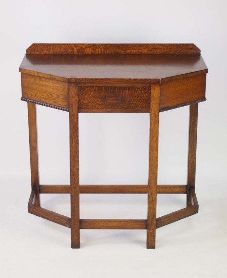 Art Deco Oak Hall Table