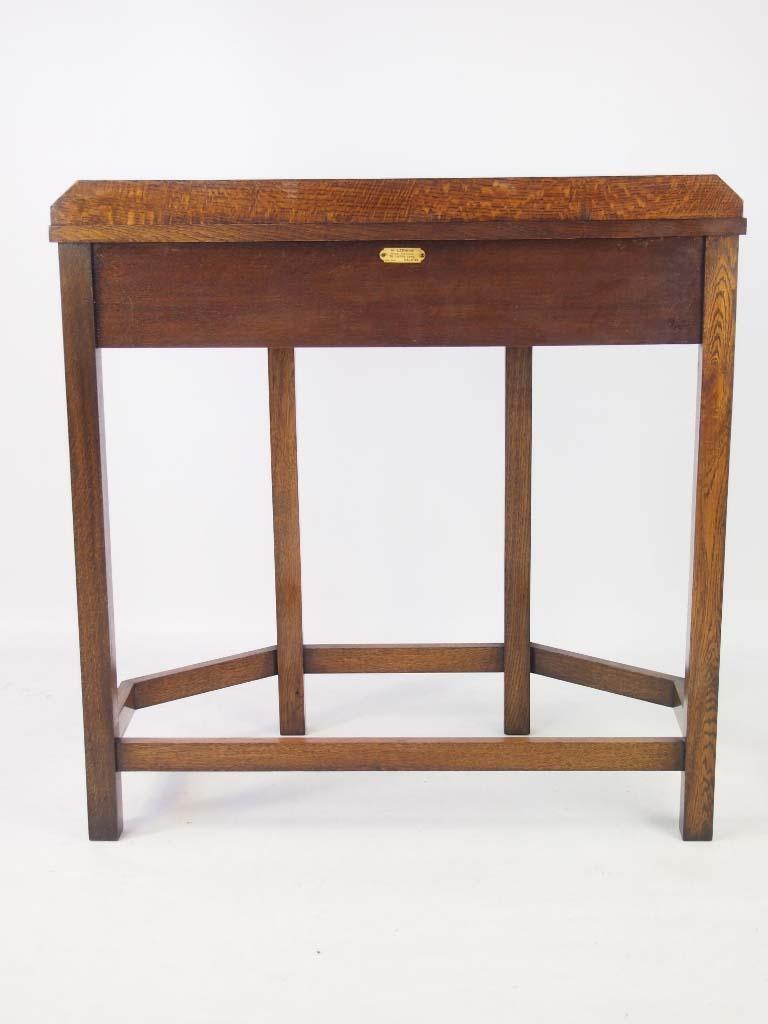 Vintage Art Deco Oak Hall Table