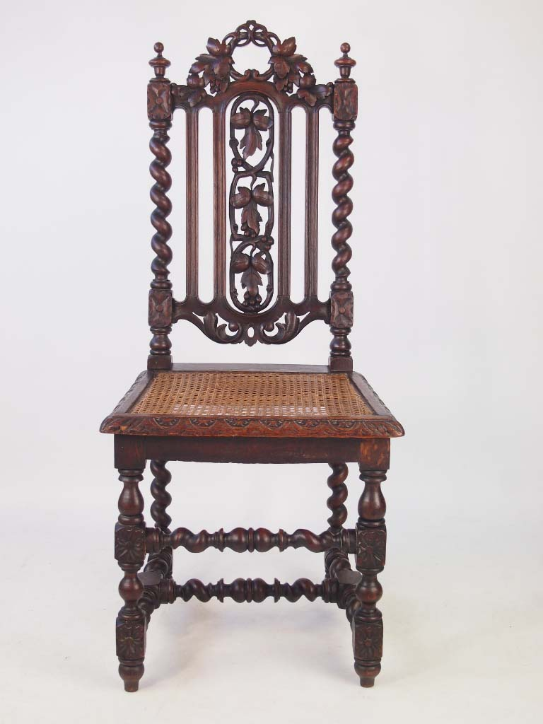 Set 4 Antique Victorian Gothic Oak Chairs