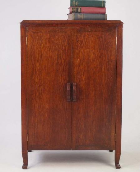 Vintage Oak Music Cabinet