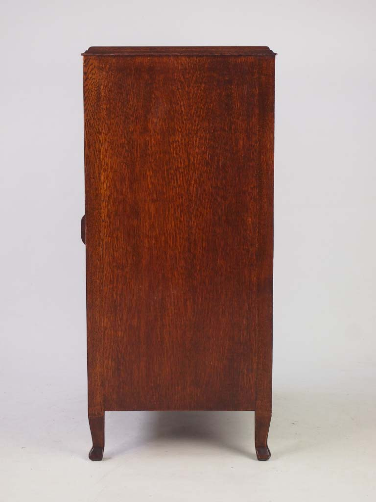 Vintage Oak Music Cabinet Document Cabinet