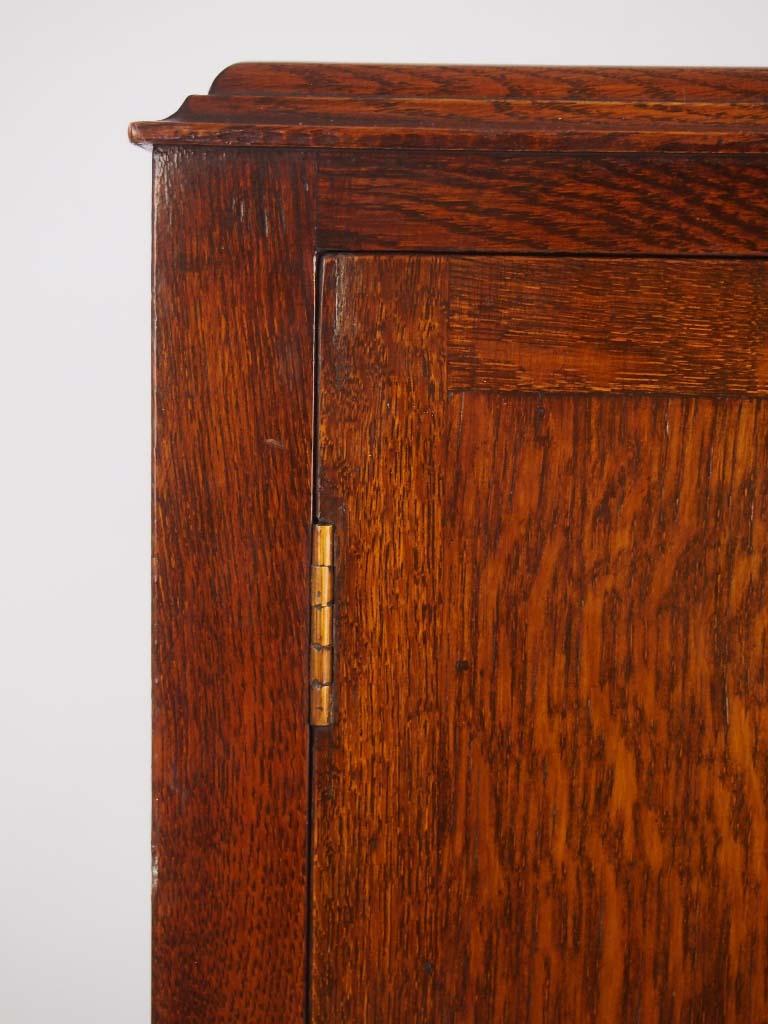 Vintage Oak Music Cabinet Document Cabinet