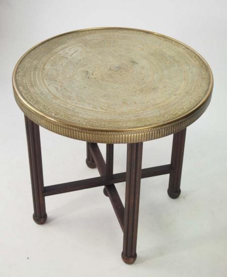 Vintage Brass Benares Table