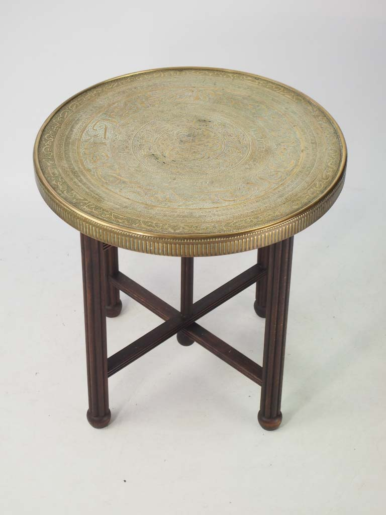 Vintage Benares Brass Tray Table Coffee Table