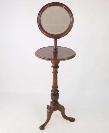 Antique Victorian Shaving Stand with Mirror