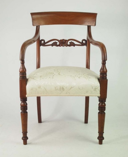 Early Victorian Mahogany Desk Chair