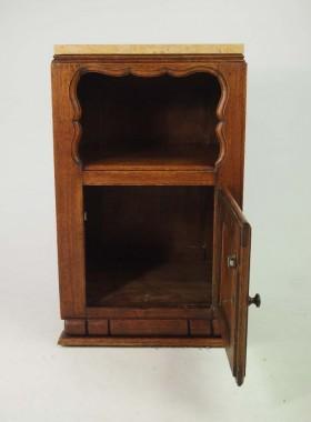 Pair Vintage French Oak Bedside Cabinets