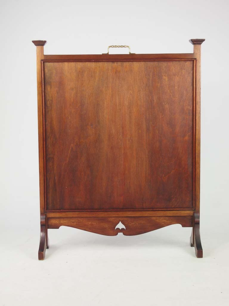 Arts Amp Crafts Mahogany Fire Screen Dated 1918