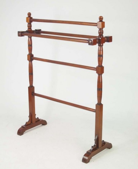 Antique Mahogany Towel Rail