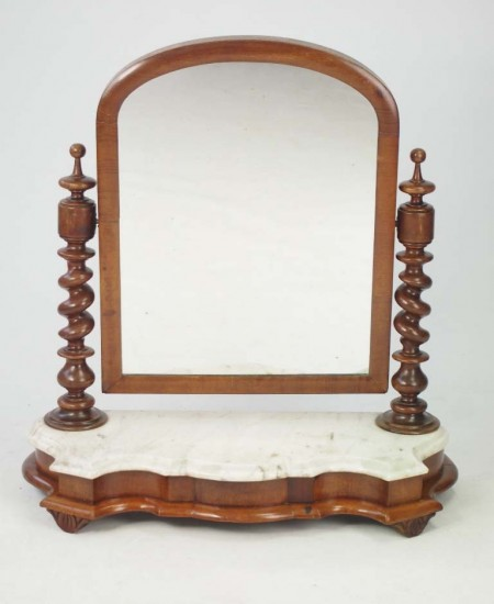 Victorian Toilet Mirror with Marble Top