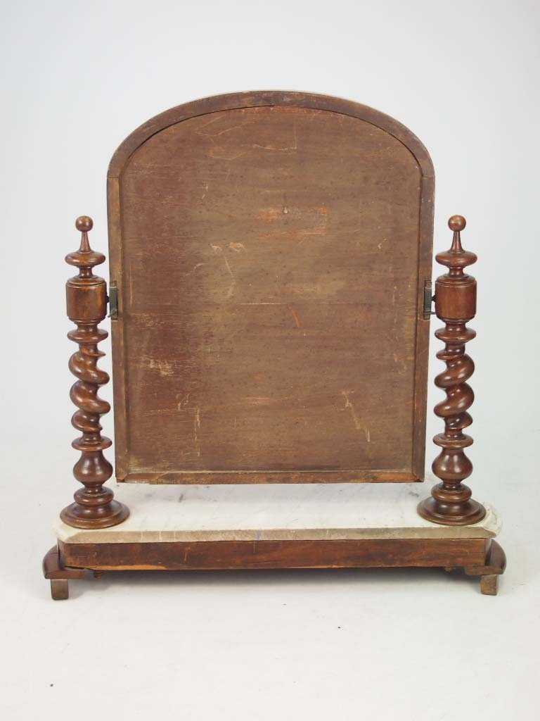 Victorian Dressing Table Mirror With Marble Base