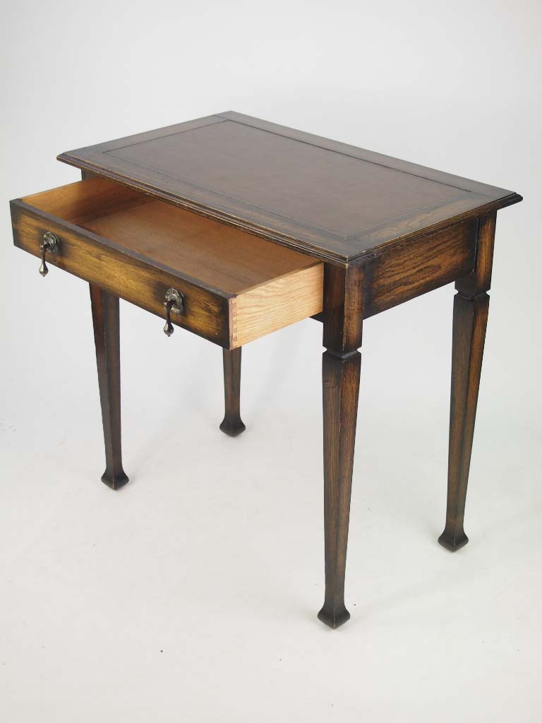 Small Edwardian Arts Amp Crafts Oak Writing Desk With Label