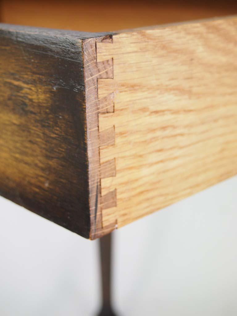 Small Edwardian Arts Amp Crafts Oak Writing Desk With Label