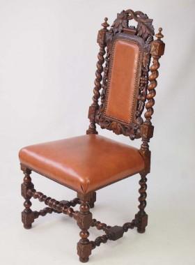 Victorian Gothic Revival Oak Chair