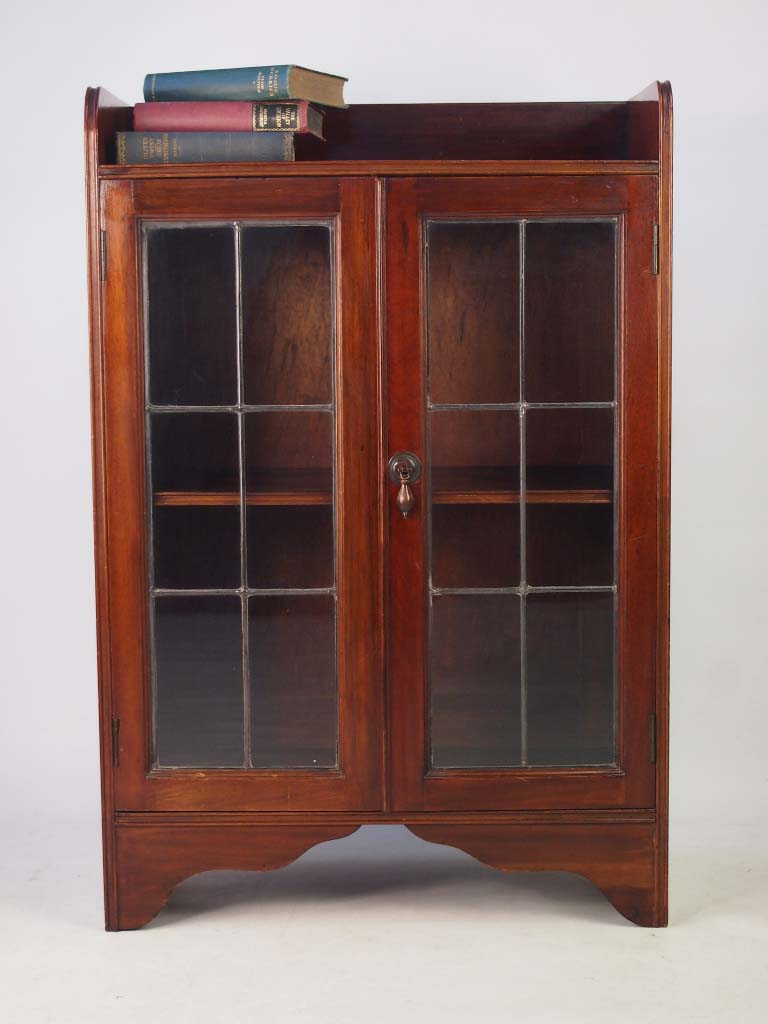 Small Antique Edwardian Mahogany Bookcase