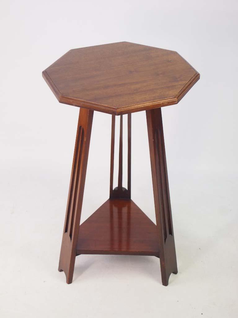 Small Edwardian Arts Amp Crafts Mahogany Lamp Table