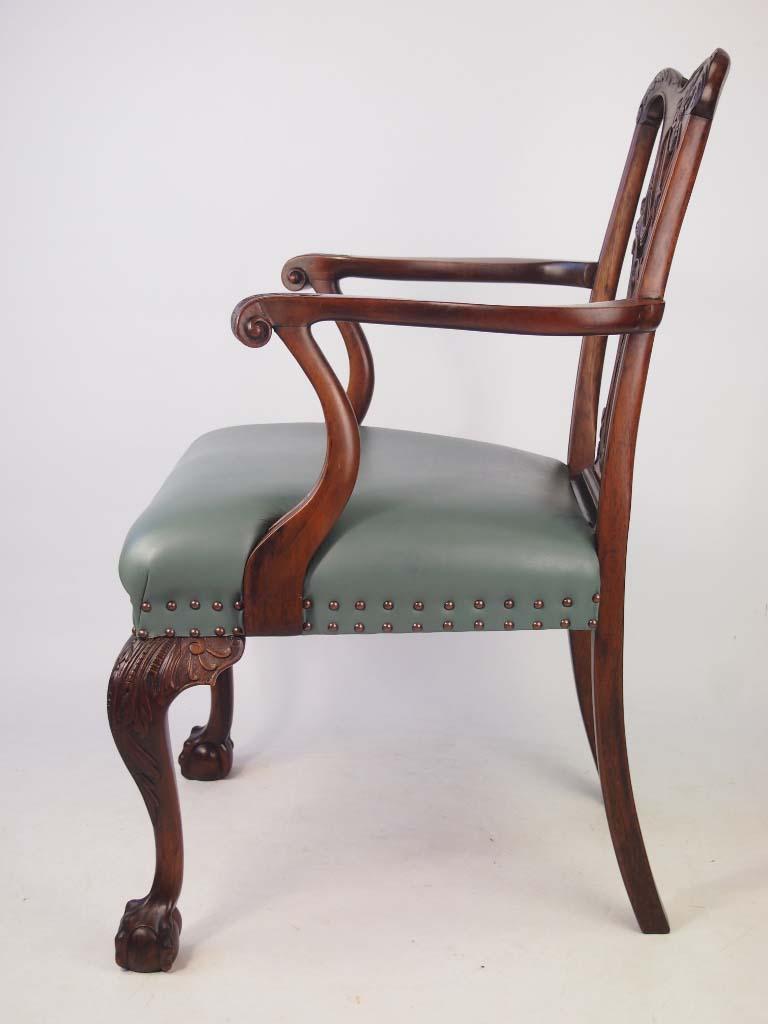 Antique Edwardian Mahogany Quot Chippendale Quot Desk Chair