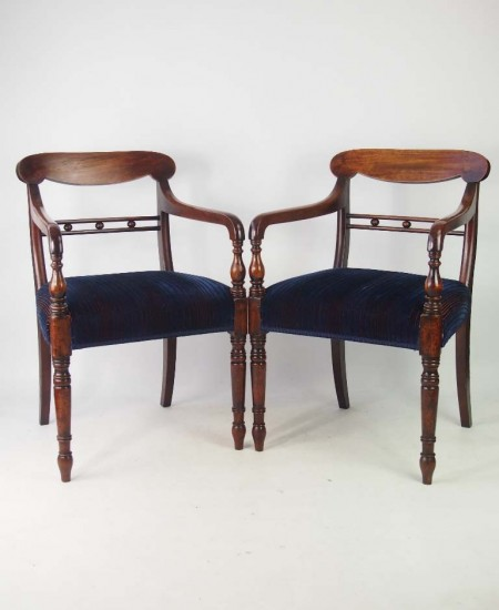 Pair Regency open Armchairs