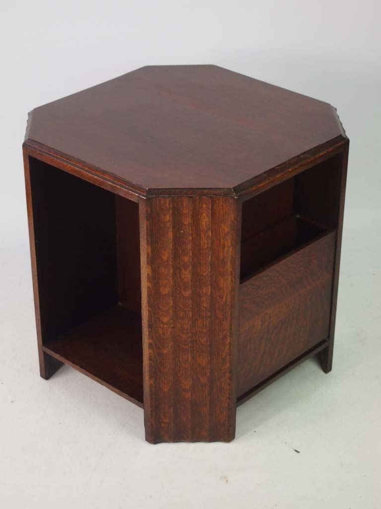 Art Deco Oak Book Table Coffee Table