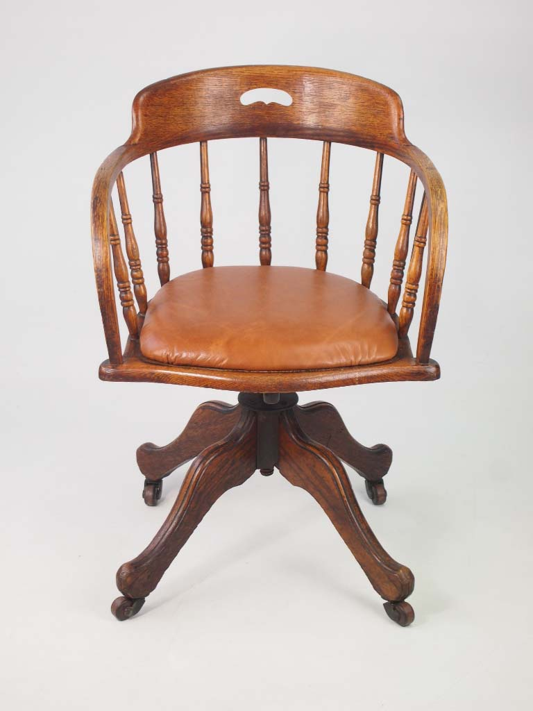 vintage leather recliner chairs antique edwardian oak swivel chair with leather seat 6841