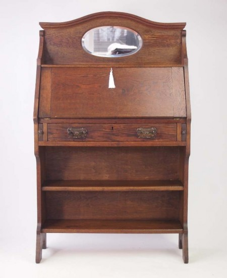 Edwardian Oak Hall Bureau