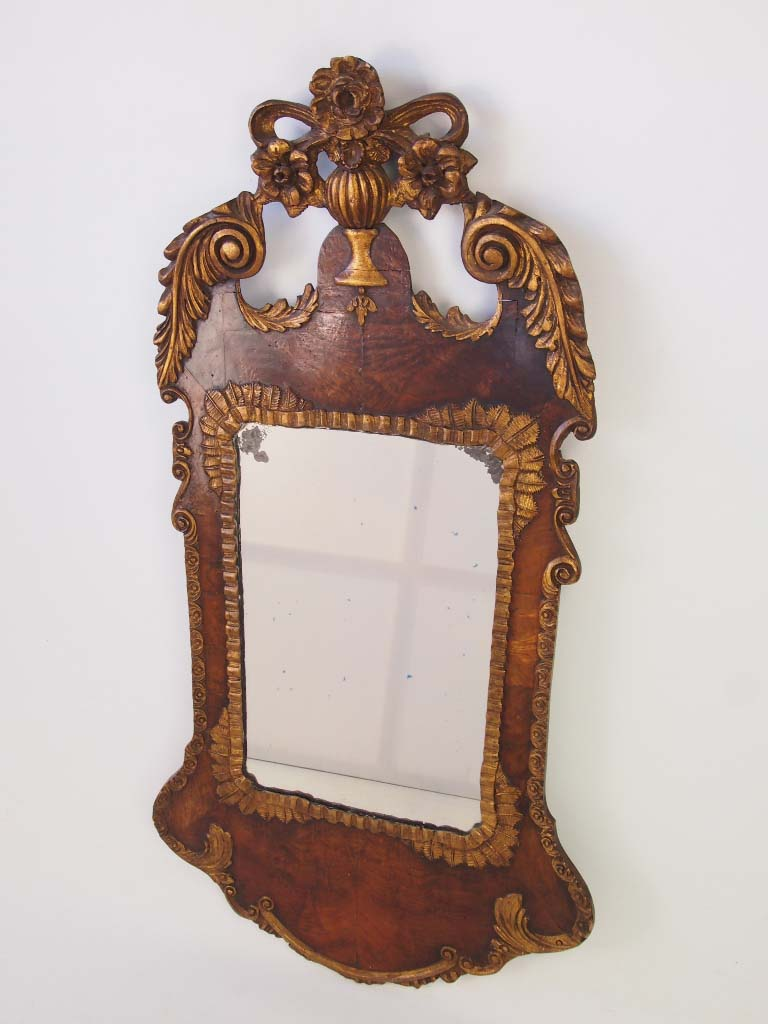 Large Antique Victorian Mirror In George Ii Style