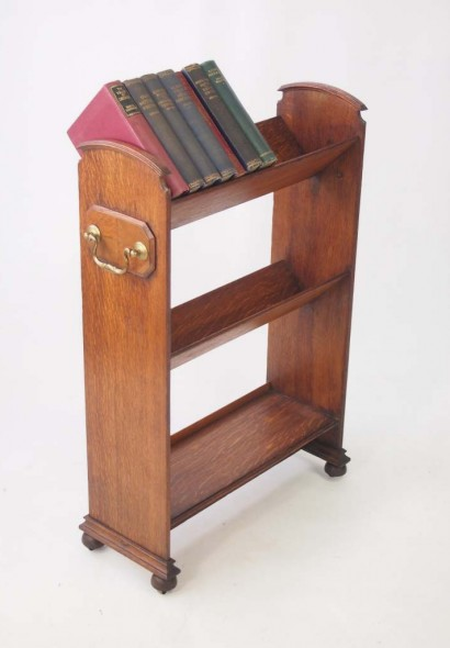 Edwardian Oak Book Stand