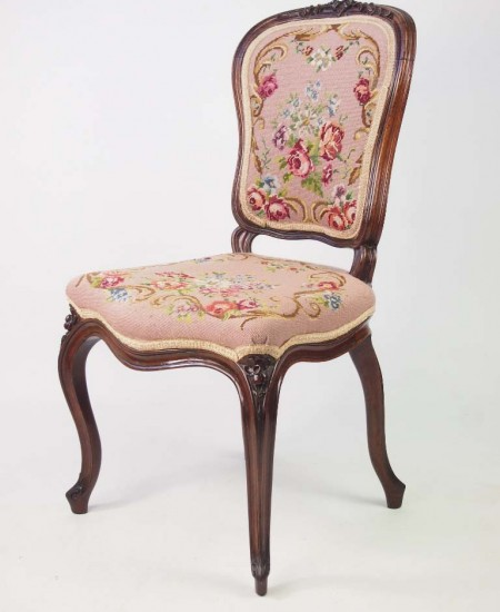 Pair Antique French Rosewood Chairs