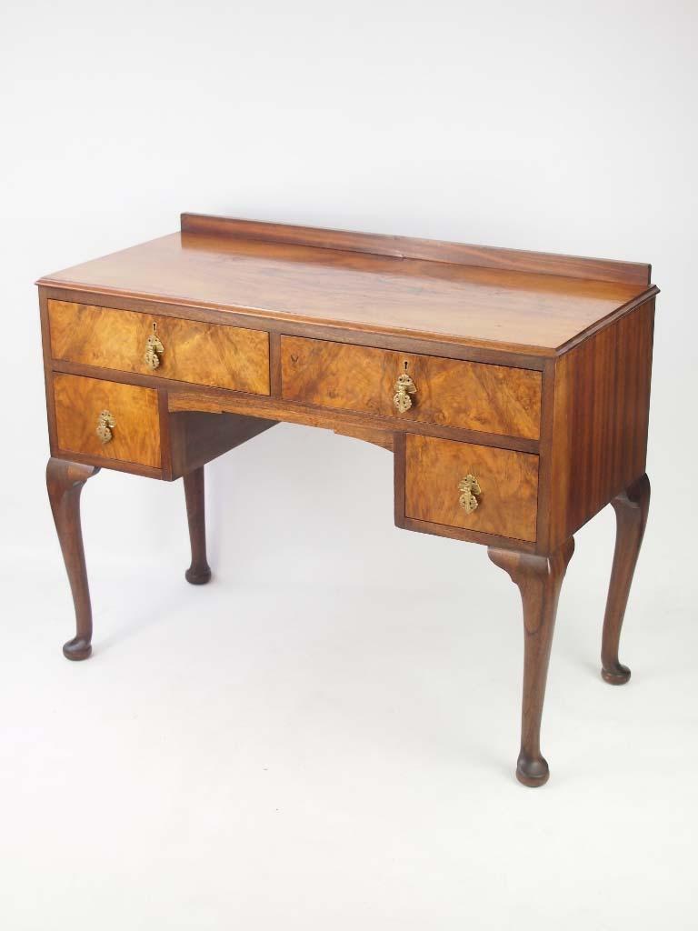 Small Art Deco Walnut Desk