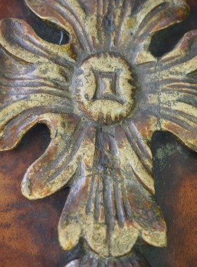 George I Walnut Mirror