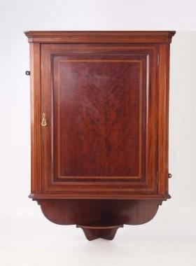 Edwardian Mahogany Corner Cabinet