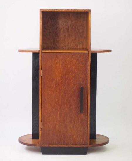 Art Deco Oak Cabinet